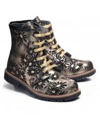 Ортопедические ботинки Theo Leo 1012 р. 31-36 Черно-золотые