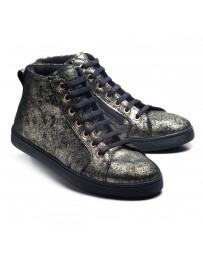Ортопедические ботинки Theo Leo 1008 р. 28-38 Черные с позолотой