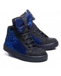 Ортопедические ботинки Theo Leo 1003 р. 21-30 Черно-синие