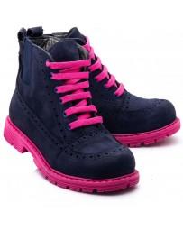 Ортопедические ботинки Theo Leo 1018 р. 31-38 Синие с розовым