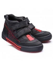 Ортопедические ботинки Theo Leo 721 р. 26-40 Черные с красным