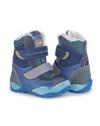 Ортопедические ботинки Memo Aspen зимние, р. 22-34 (синие, с плоской стелькой)