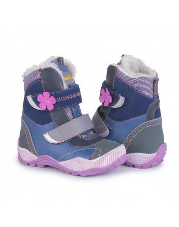 Ортопедические ботинки Memo Aspen зимние, р. 22-34 (фиолетовые, с плоской стелькой)