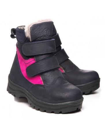 Зимние ботинки Theo Leo 1056 р. 29-35 Синие с розовым