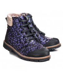 Зимние ботинки Theo Leo 1048 р. 31-36 Черно-фиолетовые