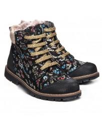 Зимние ботинки Theo Leo 1050 р. 31-36 Черные