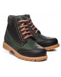 Зимние ботинки Theo Leo 632 р. 31-39 Черно-зеленые