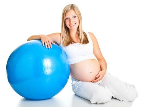 Фитбол - спутник счастливой беременности